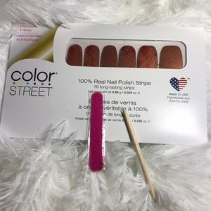 Color street nail strips - color: rustworthy